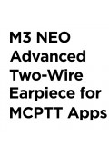 M3 NEO Advanced Two-Wire Earpiece for FirstNet MCPTT Apps